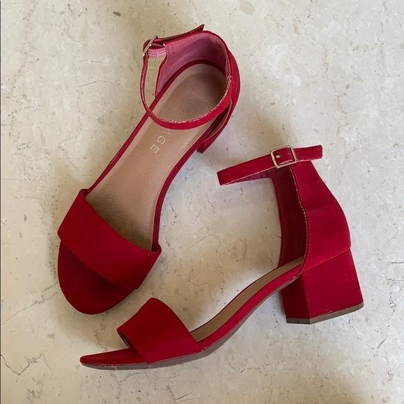 Rampage Shoes - Rampage Mattie Block Heel Red